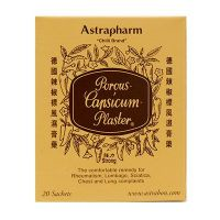 Astrapharm Chilli Brand Porous Capsicum Plaster Strong - 20 Sachets ( small)