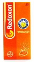 Bayer Redoxon Orange Flavour Effervescent Double Action Vitamin C + Zinc - 30 Tablets