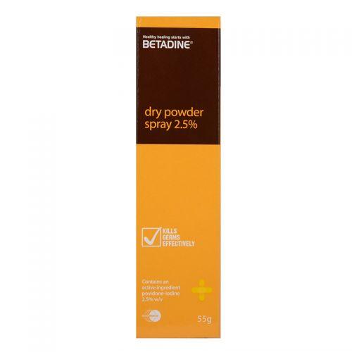 Betadine Dry Powder Spray 2.5% - 55g