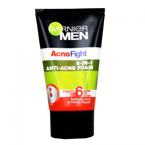 Garnier Men Acno Fight 6-in-1 Anti-Acne Foam - 100ml