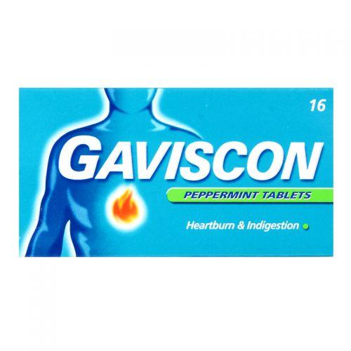 Gaviscon Peppermint Tablets - 16 Tablets
