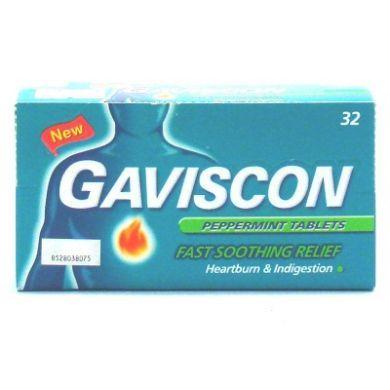 Gaviscon Peppermint Tablets - 32 Tablets