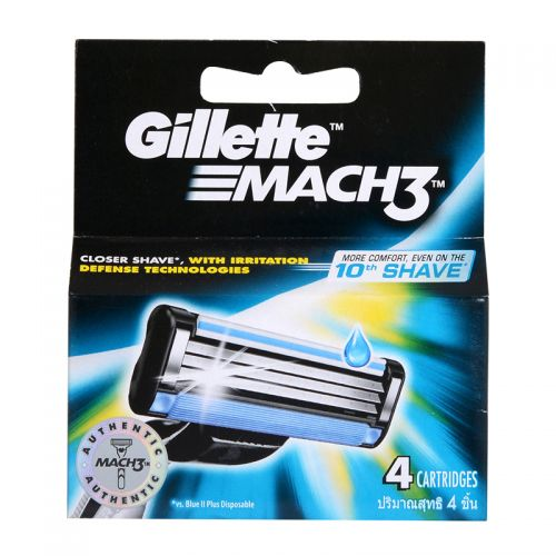 Gillette Mach3 Turbo - 4 Cartridges