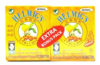 Helmig's Curcumin Herbal Effervescent - 10 Sachets x 2 Packs (Extra Bonus Pack)
