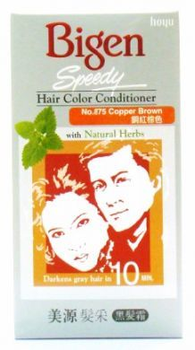 Hoyu Bigen Speedy Hair Color Conditioner With Natural Herbs - No.875 Copper Brown