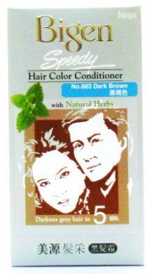 Hoyu Bigen Speedy Hair Color Conditioner With Natural Herbs - No.883 Dark Brown