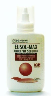 ICM Pharma Eusol-Max Antiseptic Solution (Sodium Hypochlorite Solution) - 120 ml