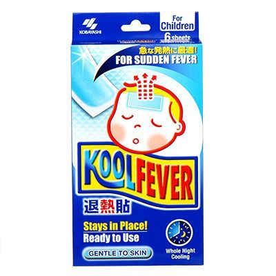 Kobayashi KoolFever Cooling Patch (For Children) - 6 Cooling Gel Sheets