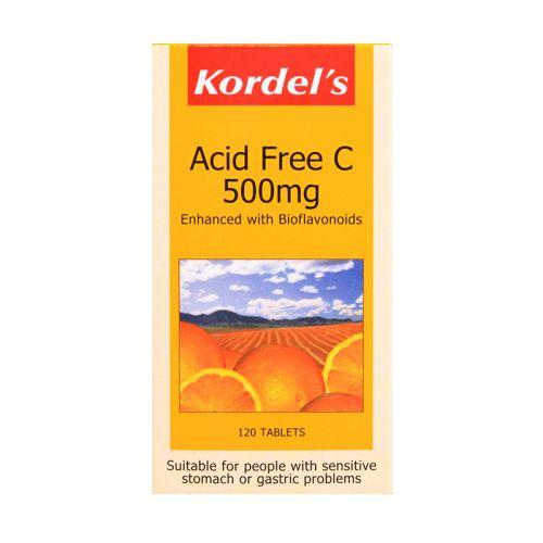 Kordel's Acid Free C 500mg - 120 Tablets