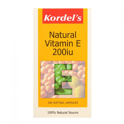 Kordel's Natural Vitamin E 200iu - 100 Softgel