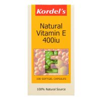 Kordel's Natural Vitamin E 400IU - 100 Softgel Capsules