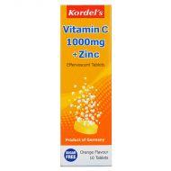 Kordel's Effervescent Vitamin C 1000mg + Zinc - 10 tablets