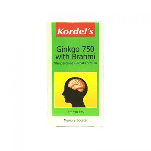 Kordel's Ginkgo 750 with Brahmi - 120 Tablets