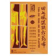 Medic-King Brand Tien-Chi Feng-Shi Die-Da Plaster - 5 Sheets (10.5 cm x 7.5 cm)