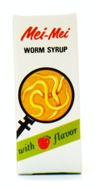 Mei-Mei Worm Syrup With Apple Flavor - 28 ml