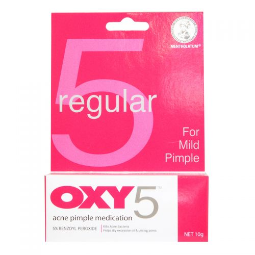 Mentholatum Regular Oxy 5 Acne Pimple Medication - 10g