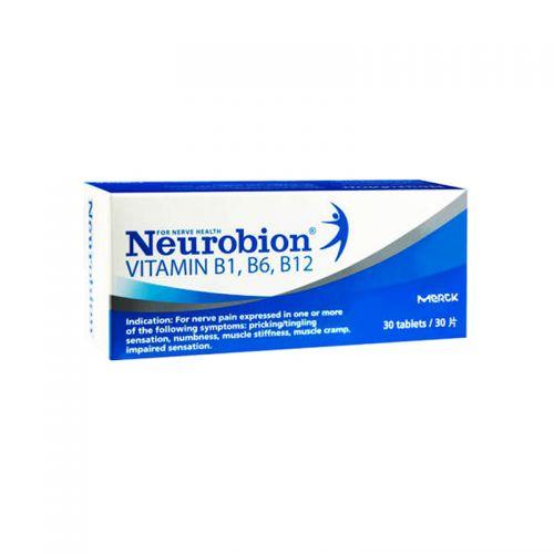 Merck Neurobion Vitamin B1, B6, B12 - 30 Tablets