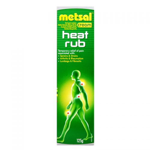 Metsal Cream Heat Rub - 125g