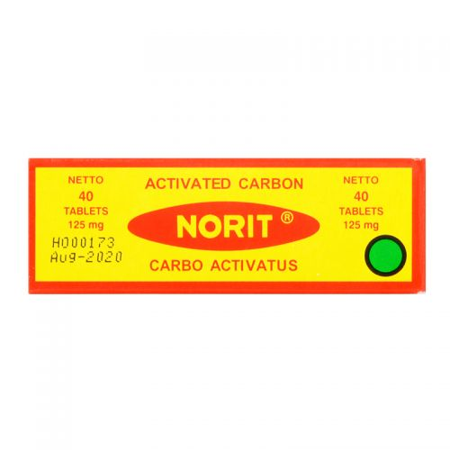 Norit Activated Carbon - 125mg x 40 Tablets