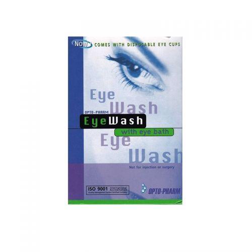 Opto-Pharma Eye Wash with Eye Bath - 15ml x 15