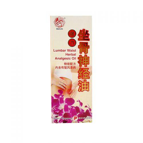QianJin Lumbar Waist Herbal Analgesic Oil - 60ml
