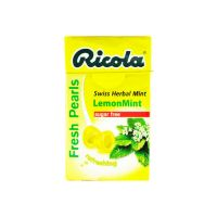 Ricola Fresh Pearls Lemon Mint Swiss Herbal Mint - 25gm