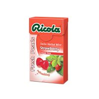 Ricola Fresh Pearls Strawberry Swiss Herbal Mint - 25gm