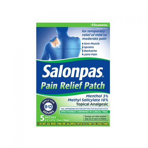 Salonpas Pain Relief Patch - 5 Patches (7cm X 10cm)