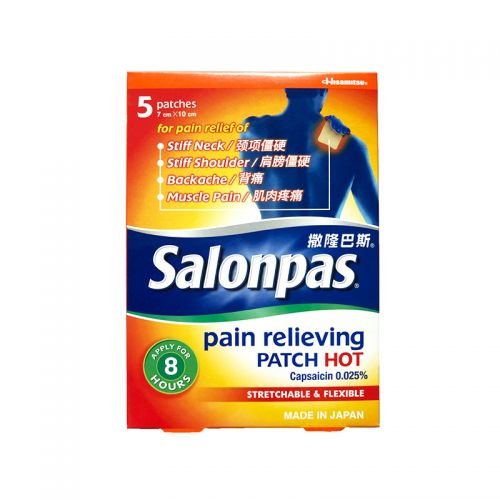 Salonpas Pain Relieving Patch Hot - 5 Patches (7cm x 10cm)