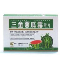Sanjin Watermelon Frost Lozenges - 12 Tablets