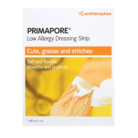 Smith & Nephew Primapore Low Allergy Dressing Strip - 1 Roll (6cm x 1m)
