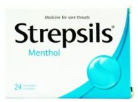 Strepsils Menthol - 24 Antiseptic Lozenges