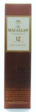 The Macallan Highland Single Malt Scotch Whisky 12 Twelve Years Old - 700 ml (40% alc / vol)