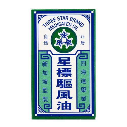 Three Star Brand Medicated Oil - 5 ml