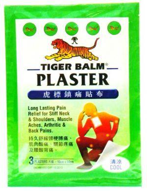 Tiger Balm Plaster (Cool) - 3 Plasters (10 cm X 14 cm)