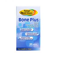 Total Nutrition Bone Plus 600mg Elemental Calcium + 200IU Vit D3 - 60 Tablets