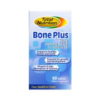Total Nutrition Bone Plus 600mg Elemental Calcium + 200IU Vit D3 - 60 Tablets