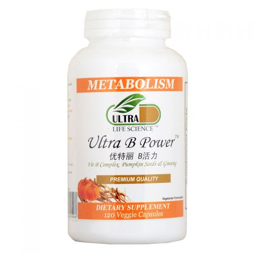 Ultra Life Science Ultra B-Power - 120 Veggie Capsules