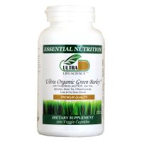 Ultra Life Science Ultra Organic Green Barley - 100 Veggie Capsules