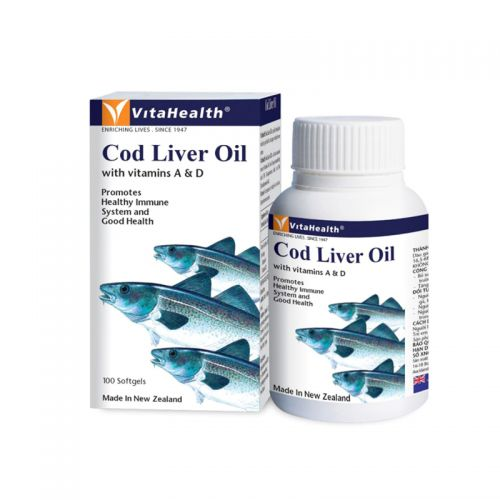 VitaHealth Pure Cod Liver Oil with Vitamin A & D - 100 Softgels