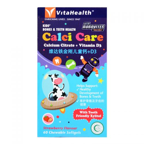 VitaHealth Robovites Calci Care - 60 Chewable Softgels