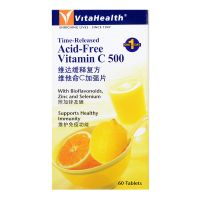 VitaHealth Time-Released Acid-Free Vitamin C 500 - 60 Tablets