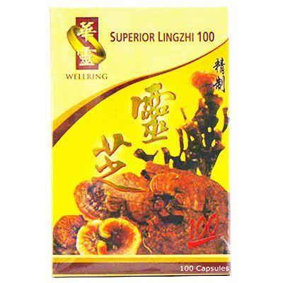 Wellring Brand Superior Lingzhi 100 - 100 Capsules