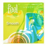Feel Smooth Condom - 3 Flavoured & Coloured Condoms