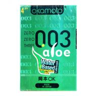 Okamoto 0.03 Aloe Condoms - 4 Pieces
