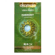 Okamoto Harmony Vibra-Ribbed Condom - 12 Lubricated Comdoms