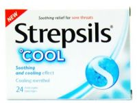 Strepsils Cool (Soothing and cooling effect) - 24 Antiseptic Lozenges