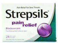 Strepsils Pain Relief (Blackcurrant) - 16 Antiseptic Lozenges