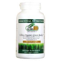Ultra Life Science Ultra Organic Green Barley - 100 Veggie Capsules