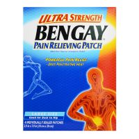 Ultra Strength Bengay Pain Relieving Patch Large Size (Good for Back to Hip) - 10cm x 20cm
